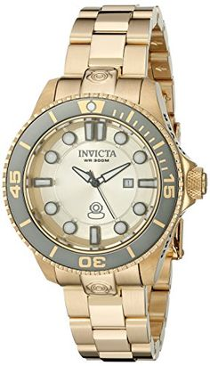 Women's Wrist Watches - Invicta Womens 19822 Pro Diver Analog Display Swiss Quartz Gold Watch >>> Check out the image by visiting the link.