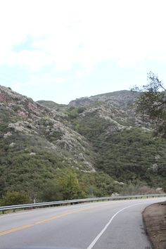 The drive down Topanga Canyon in Los Angeles