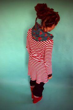 Organic Dress - striped