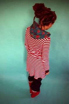 Organic Dress - striped