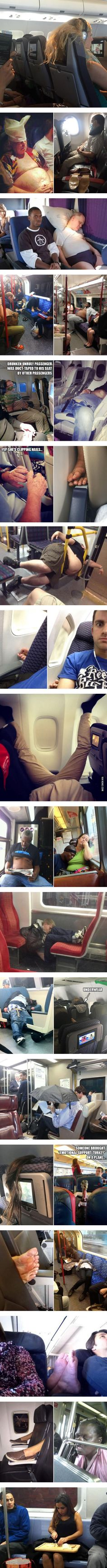 Passengers You DO NOT Want Sitting Near You - 9GAG