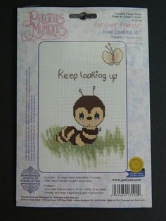 Precious Moments Fur-Ever Friends Keep Looking Up Caterpillar Cross Stitch Kit #PreciousMoments