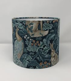 British Standards, William Morris, Kind Words, Fabric Samples, Lampshades, Drums, Fabric Design, Printing On Fabric, Teal