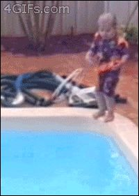 This kid who obviously wasn't ready to share a pool. | 19 Kids Who Clearly Should Have Been An Only Child
