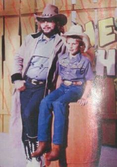 Hank Jr & Hank III in Hee Haw TV show