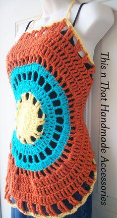 Crochet Halter Top by LeftHookAccessories on Etsy, www.lefthookaccessories.etsy.com