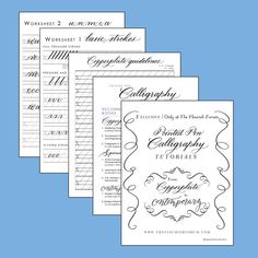 Calligraphy lessons!!!! Lesson 1: Pointed Pen Calligraphy from Copperplate to Contemporary