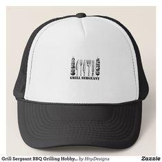 465c822a254 Grill Sergeant BBQ Grilling Hobby Funny Men Women Trucker Hat - Urban  Hunter Fisher Farmer Redneck