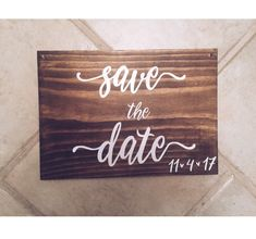 Save the Date Sign Announcement | Save our date sign littlebrownnsuitcase.com littlebrownnsuitcase