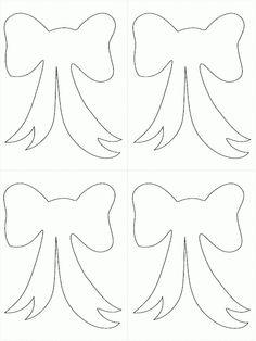 Dibujos de lazos de navidad para imprimir