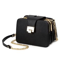2017 Spring New Fashion Women Shoulder Bag Chain Strap Flap Designer Handbags Clutch Bag Messenger With Metal Buckle #09Sh31/9-2