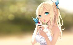 Blonde Anime Girl Wallpaper