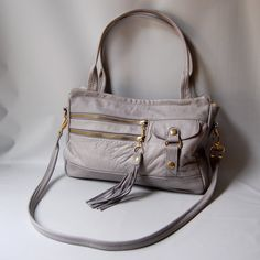 SALE  5 pocket Vigga bag in cement grey by valhallabrooklyn