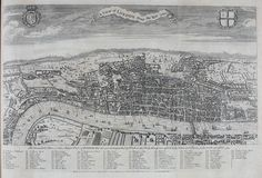 """A View Of London """"about the year 1560"""" #map #london #uk"""