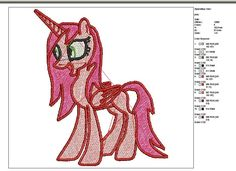 My little pony--machine embroidery--instant download by tagi74 on Etsy