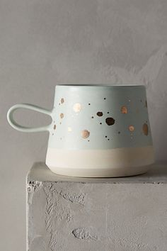 Gold-Flecked Mug #anthropologie