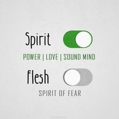 for God did not give us the spirit of fear .. but of power & love and soundmind