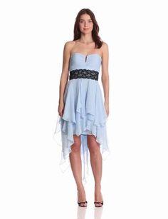 Hailey by Adrianna Papell Women's Dresses Chiffon Hi Lo Dress,