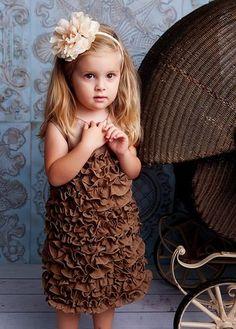 Sassy Girls Chiffon Ruffle Dress $120