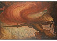 Jean Delville (Belgian, 1867-1953), La force, 1940