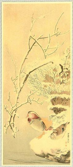 Nagasawa Rosetsu: Mandarin Ducks in Snow