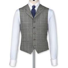 Grey herringbone tailored fit Black Label vest $115.00 An amazing 1920s style vest. Store: Charles Tyrwhitt (US)