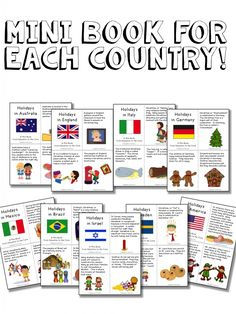 Christmas Around the World / Holidays around the World Printable Unit. Close Read for Each Country including England, Australia, Italy, Germany, Mexico, Brazil, Israel, Sweden, and The United States Plus FREE Christmas in America Mini-Book and writing reflection at the end!