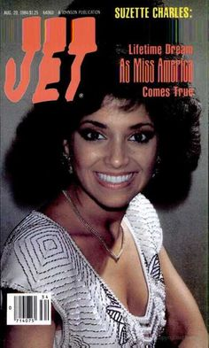 Suzette Charles from the August 20, 1984 issue of Jet magazine, shortly after replacing Vanessa Williams as Ms. America.