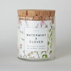 Watermint & Clover Soy Candle