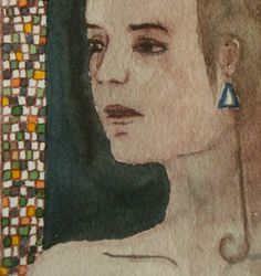 Woman portrait art curated by Elisaveta Sivas on Etsy Woman Portrait, Female Portrait, Portrait Art, Original Paintings, Original Art, Fantasy Women, Watercolour Painting, Pretty Little, Online Art