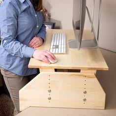 """WallSproutz Standz 900 - Adjustable Stand-up Desk Converter 30""""x18""""  #standingdesk"""