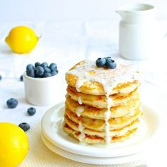 Super light and fluffy Gluten Free Lemon Chia Seed Pancakes- vegan and dairy free! Instead of lemon poppy seed pancakes, these gluten free lemon chia seed pancakes contain, you guessed it- chia seeds. The 'best food allergy friendly pancakes' out there! Gluten Free Pancakes, Gluten Free Pizza, Gluten Free Cookies, Dairy Free Buttercream, Buttercream Frosting, Gluten Free Hamburger Buns, Cinnamon Crunch, Cinnamon Rolls, Vegan Gingerbread