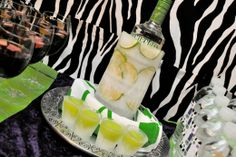 Adult Pajama party (zebra themed)  Bar details