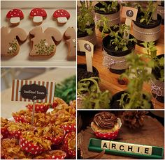 Woodland Party -   love the squirrel cookies!