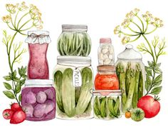 Canning Art Print by the little canoe