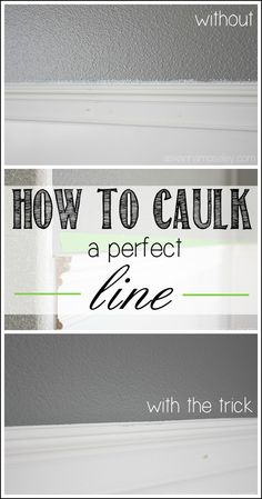 A tip for how to caulk a perfect line - Ask Anna