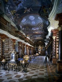 The Clementinum, Prague. Ok, I would have done just about anything to actually enter the rooms of the library. But looking in from the doorway was awesome too.