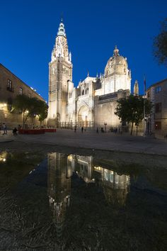 https://flic.kr/p/TZGBxK | Spain. | Spain. Toledo Cathedral in the blue hour.