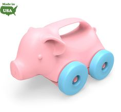 Green Toys Animals-on-Wheels - Elephant, Pig, and Turtle. Eco-friendly play for early crawlers. Super safe with no BPA, phthalates, or PVC, and dishwasher safe for easy cleaning. Packaged with recyclable materials and printed with soy ink.