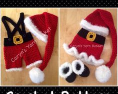 CROCHET PATTERN Newborn Santa's Lil Helper 4 by CarynsYarnBasket