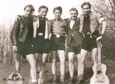 Some of the Edelweiss Pirates. An opposition group to the Nazis