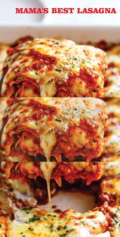 MAMA'S BEST LASAGNA   savory Chicken Recipes For Kids, Grilled Chicken Recipes, Spicy Recipes, Italian Recipes, Cooking Recipes, Healthy Recipes, Harvest Vegetables Recipe, Slimming World, Mozzarella