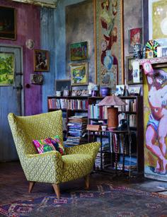 Charleston Studio: Vanessa Bell & Duncan Grant. Sanderson Bloomsbury textiles.