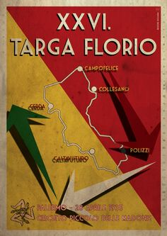 newly created Poster Artwork for the 26th Targa Florio