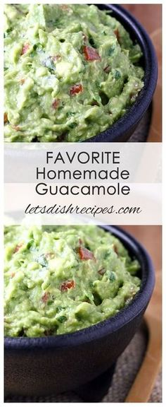 Favorite Homemade GuacamoleFavorite Homemade Guacamole Recipe | Fresh avocados, tomatoes and herbs come together in this class Tex-Mex dip!