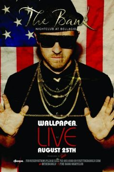 Get ready for a rare live performance by the base-thumping techno-pop band Wallpaper at The Bank Nightclub, Bellagio's premiere nightlife hot spot. DJ Karma will also be in the loop so rally the troops and head to The Bank this Saturday in Sin City.
