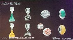 pandora-disney-spring-2015-ariel-belle Ariel and belle dress, rose, shell