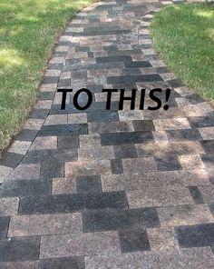Granite stone remnants for outside walkways
