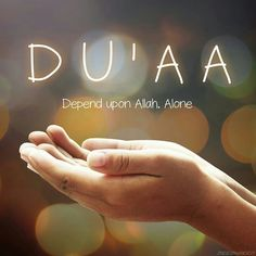 D..... depend U..... upon A ..... Allah A ..... Alone
