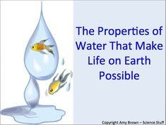 Properties of Water that Make Life on Earth Possible.   PowerPoint and notes for both teacher and student.